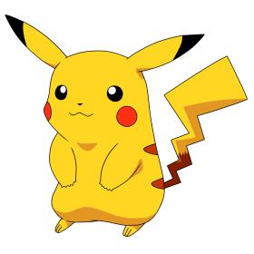 Pikachu (électrique), symbole de Pokémon.