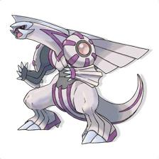 Palkia (Dragon-Eau), Pokémon légendaire de l'espace.