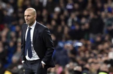 Zidane lors du match Real Madrid / La Corogne © AFP GERARD JULIEN