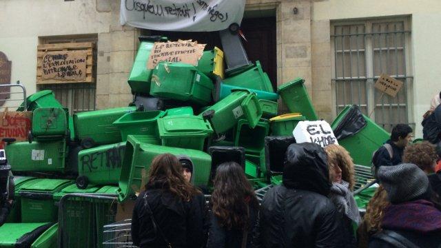 © France 3 Paris IDF / M. de Bohan Le lycée Sophie-Germain, bloqué ce matin, jeudi