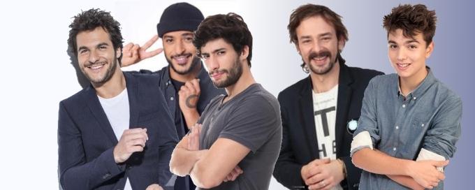 De gauche à droite : Amir Haddad, Slimane, MB14, Clément Verzi et Antoine